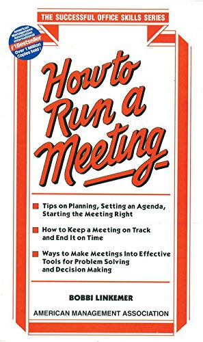 9788183071352: How to Run a Meeting