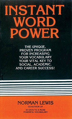 9788183073707: Instant Word Power by Norman Lewis (2011-07-31)