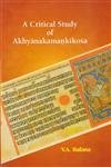 A Critical Study of Akhyanakamanikosa: R.R. Mohadikar