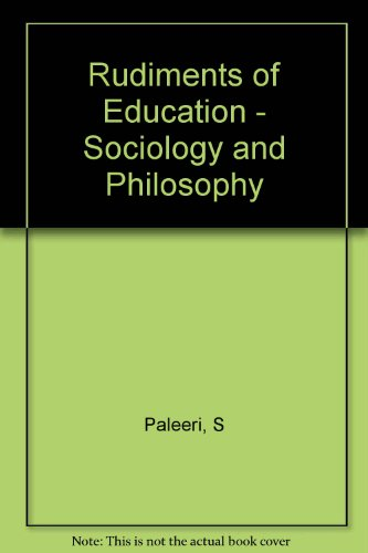 9788183162104: Rudiments of Education - Sociology and Philosophy