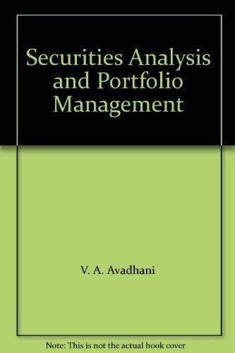 9788183184243: Securities Analysis and Portfolio Management