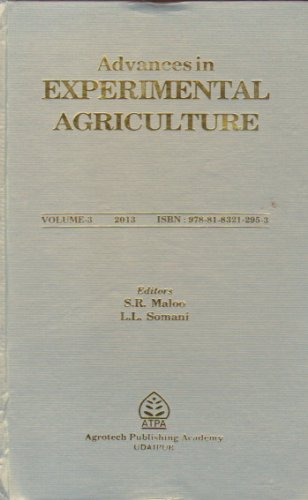 Advances in Experimental Agriculture: Vol. 3: edited by S.R.