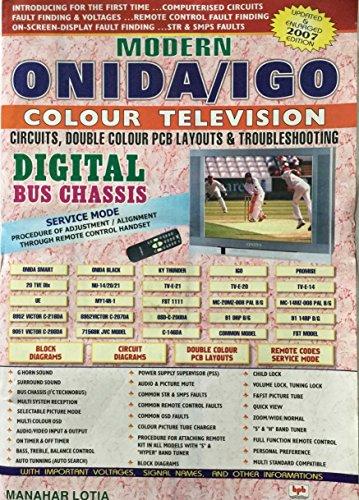 Modern Onida/IGO Colour Television: Circuits Double Colour: M. Lotia