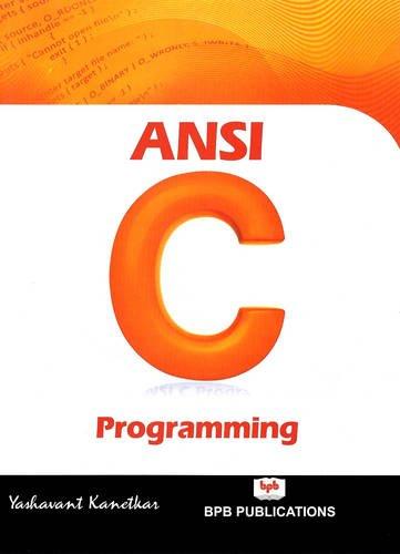 9788183333245: ANSI C Programming