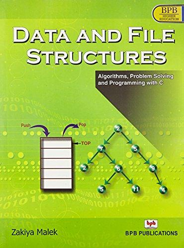 Data and File Structure: Zakiya Malek