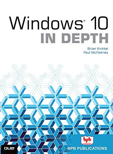 9788183335164: Windows 10 IN DEPTH