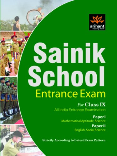 Study Guide for Sainik School Admissions for Class IX All India Entrance Examination(Paper I & ...