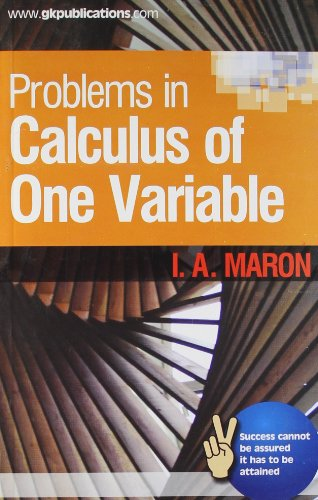 9788183553223: Problems In Calculus Of One Variable