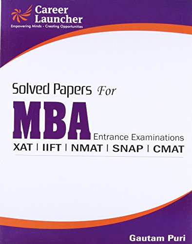 Mba Solved Papers 2017: Gautam Puri