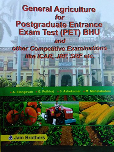 General Agriculture for Postgraduate Entrance Exam Test: Elangovan, A et