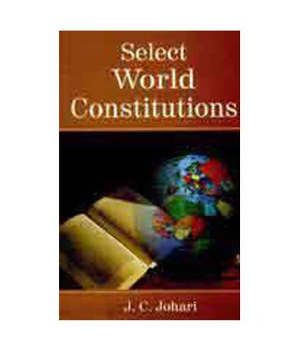 9788183822756: Select World Constitutions
