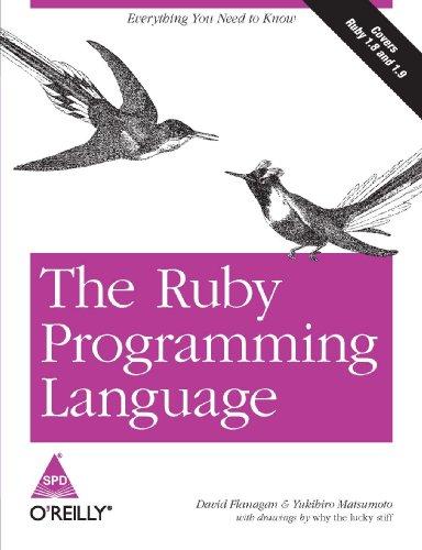 9788184044928: The Ruby Programming Language [Paperback] [Jan 01, 2008] Yukihiro Matsumoto