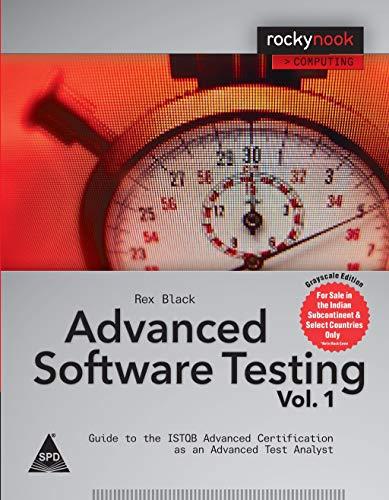 Advanced Software Testing: Black, Rex
