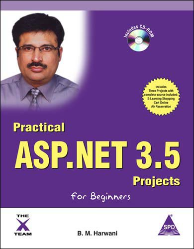 9788184047073: Practical ASP.NET 3.5 Projects for Beginners, (Book/CD-Rom)