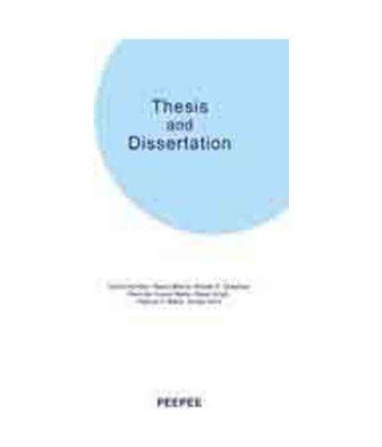 Thesis and Dissertation: Manoj Singh,Neerja Bhatla,Parmod