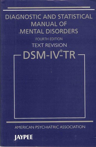 9788184485424: Title: Diagnostic and Statistical Manual of Mental Disord