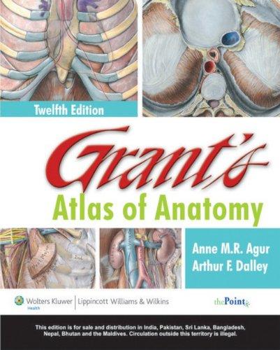 9788184730609: Grant's Atlas Of Anatomy, 12E