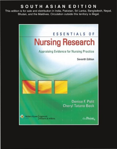 9788184732191: Essentials of Nursing Research 7/e