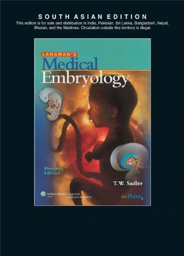 Langman`s Medical Embryology (Eleventh Edition): T.W. Sadler