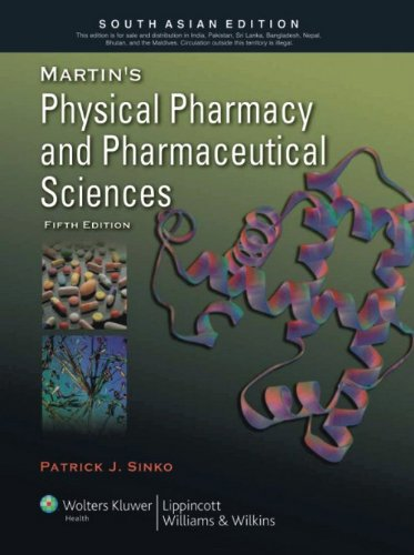 9788184733921: Martins Physical Pharmacy And Pharmaceutical Sciences