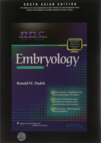 Embryology (Series: Board Edition), (Fifth Edition): Ronald W. Dudek