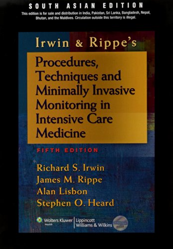 9788184736120: Procedures, Techniques And Minimally Invasive Monitoring In Intensive Care Medicine 5Ed (Pb)
