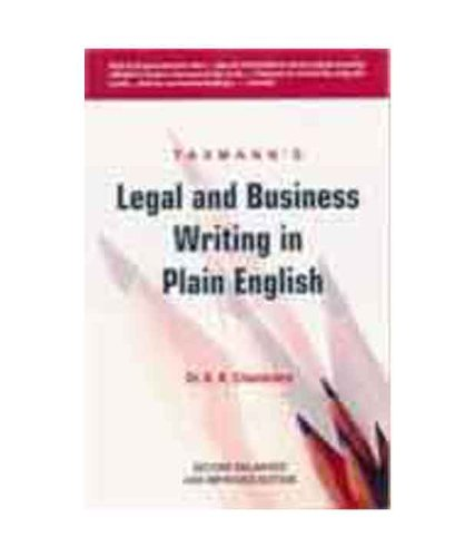 Legal and Business Writing in Plain English: K.R. Chandratre