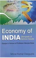 Economy of India : Glimpses of Various: edited by Mrinal
