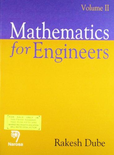 9788184870541: Mathematics For Engineers (Volume 2)