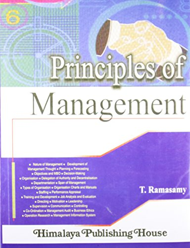 PRINCIPLES OF MANAGEMENT: T. Ramasamy