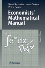 9788184890037: Economist's Mathematical Manual, 4e