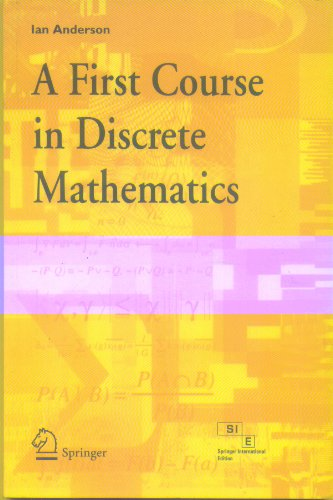 9788184890129: A First Course in Discrete Mathematics