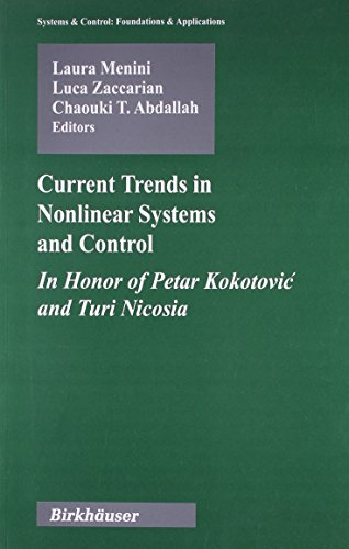 9788184890228: Current Trends in Nonlinear Systems and Control