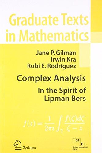 Complex Analysis: In the Spirit of Lipman: Irwin Kra,Jane P.