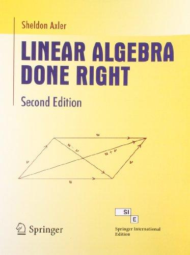 9788184895322: Linear Algebra Done Right