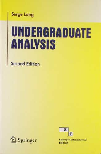 9788184896282: Undergraduate Analysis