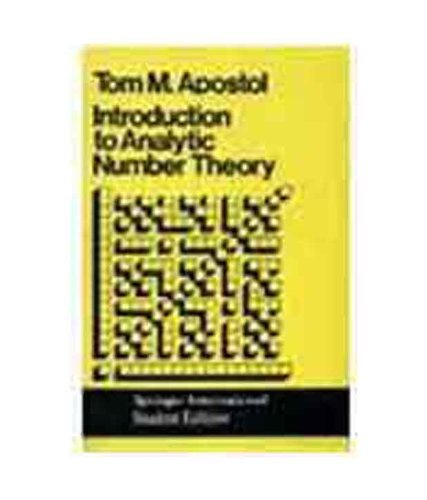 9788185015125: Introduction To Analytic Number Theory