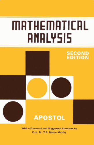 9788185015668: Mathematical Analysis: 2nd Ed *** Ref 0-201-002