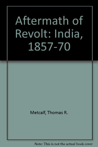 9788185054995: The Aftermath of Revolt India, 1857-1870
