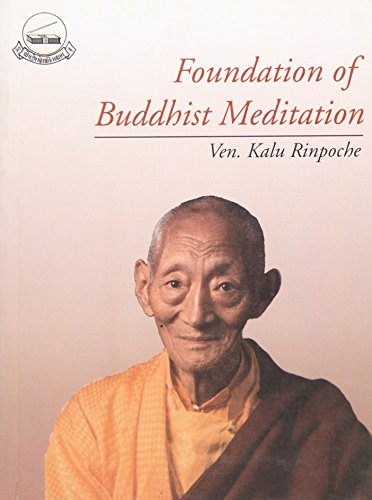 9788185102610: Foundation of Buddhist Meditation
