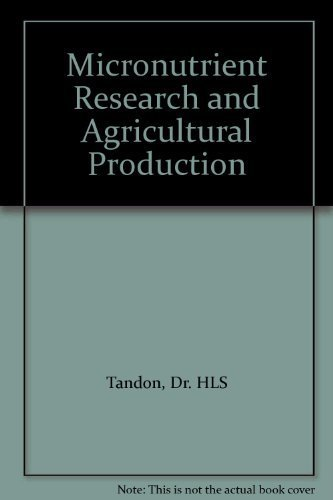 9788185116396: Micronutrient Research and Agricultural Production