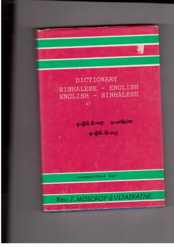 9788185243665: Dictionary Sinhalese-English English-Sinhalese