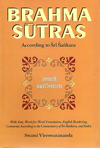 9788185301952: Brahma-Sutras According to Sri Sankara