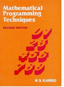 9788185336473: MATHEMATICAL PROGRAMMING TECHNIQUES REV EDITION