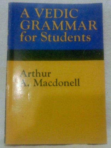 9788185395999: Vedic Grammar for Students