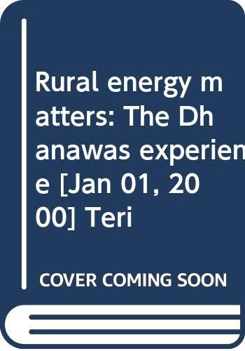 Rural Energy Matters: Ramana P. Venkata