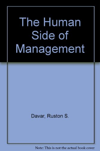 9788185461298: The Human Side of Management