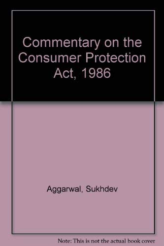 9788185524580: Commentary on the Consumer Protection Act, 1986