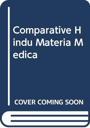 Comparative Hindu Materia Medica (Hardback): Chandra Chakraberty