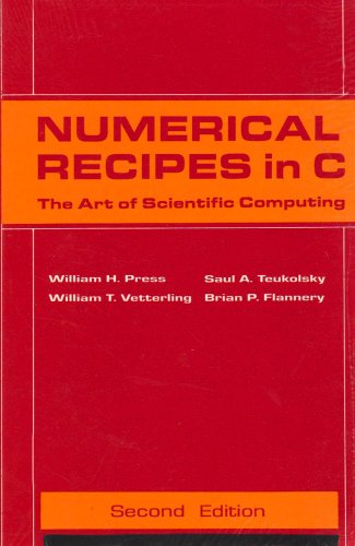 Numerical Recipes in C: The Art of Scientific Computing: Brian Flannery,Saul A. Teukolsky,William H...